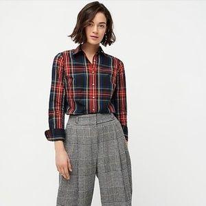 Slim Stretch Perfect Shirt in Stewart Tartan Plaid